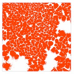 Red Spot Paint White Large Satin Scarf (Square)