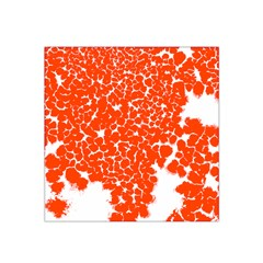 Red Spot Paint White Satin Bandana Scarf