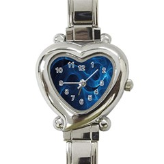 Smoke White Blue Heart Italian Charm Watch