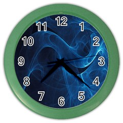 Smoke White Blue Color Wall Clocks