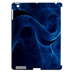 Smoke White Blue Apple iPad 3/4 Hardshell Case (Compatible with Smart Cover)