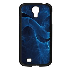 Smoke White Blue Samsung Galaxy S4 I9500/ I9505 Case (Black)