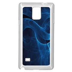 Smoke White Blue Samsung Galaxy Note 4 Case (White)