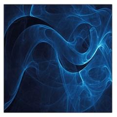 Smoke White Blue Large Satin Scarf (Square)
