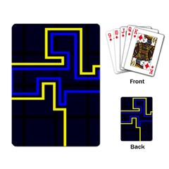 Tron Light Walls Arcade Style Line Yellow Blue Playing Card