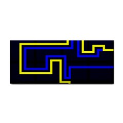 Tron Light Walls Arcade Style Line Yellow Blue Cosmetic Storage Cases