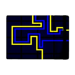 Tron Light Walls Arcade Style Line Yellow Blue Apple Ipad Mini Flip Case
