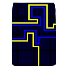Tron Light Walls Arcade Style Line Yellow Blue Flap Covers (L)