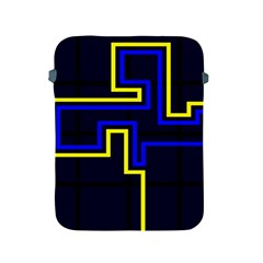Tron Light Walls Arcade Style Line Yellow Blue Apple iPad 2/3/4 Protective Soft Cases