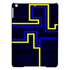 Tron Light Walls Arcade Style Line Yellow Blue Ipad Air Hardshell Cases