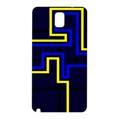 Tron Light Walls Arcade Style Line Yellow Blue Samsung Galaxy Note 3 N9005 Hardshell Back Case