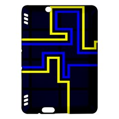 Tron Light Walls Arcade Style Line Yellow Blue Kindle Fire HDX Hardshell Case