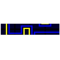 Tron Light Walls Arcade Style Line Yellow Blue Flano Scarf (Large)