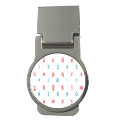 Source Serif Number Money Clips (Round)