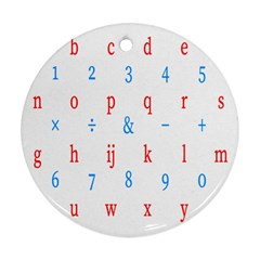 Source Serif Number Round Ornament (Two Sides)