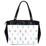 Source Serif Number Office Handbags (2 Sides)  Back