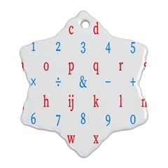 Source Serif Number Snowflake Ornament (Two Sides)