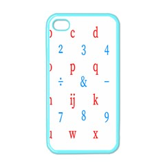 Source Serif Number Apple iPhone 4 Case (Color)