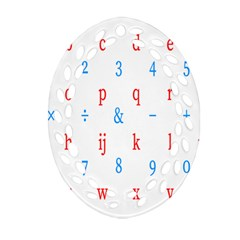 Source Serif Number Oval Filigree Ornament (Two Sides)