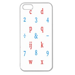 Source Serif Number Apple Seamless iPhone 5 Case (Clear)