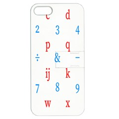 Source Serif Number Apple iPhone 5 Hardshell Case with Stand