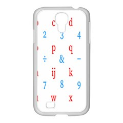 Source Serif Number Samsung GALAXY S4 I9500/ I9505 Case (White)