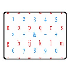 Source Serif Number Double Sided Fleece Blanket (Small)