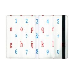 Source Serif Number iPad Mini 2 Flip Cases