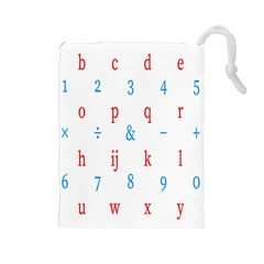 Source Serif Number Drawstring Pouches (Large)
