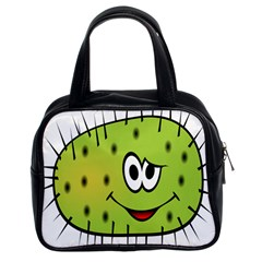 Thorn Face Mask Animals Monster Green Polka Classic Handbags (2 Sides)