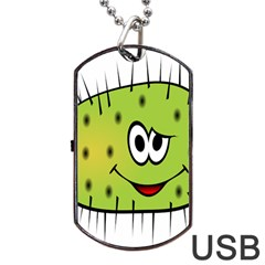 Thorn Face Mask Animals Monster Green Polka Dog Tag USB Flash (One Side)
