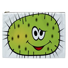 Thorn Face Mask Animals Monster Green Polka Cosmetic Bag (XXL)