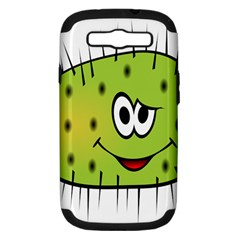Thorn Face Mask Animals Monster Green Polka Samsung Galaxy S III Hardshell Case (PC+Silicone)