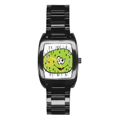 Thorn Face Mask Animals Monster Green Polka Stainless Steel Barrel Watch