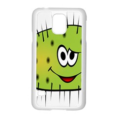 Thorn Face Mask Animals Monster Green Polka Samsung Galaxy S5 Case (White)