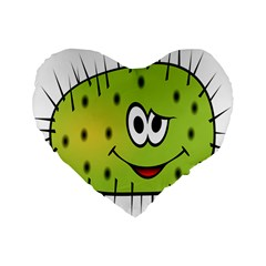 Thorn Face Mask Animals Monster Green Polka Standard 16  Premium Flano Heart Shape Cushions