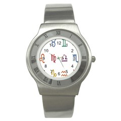 Twelve Signs Zodiac Color Star Stainless Steel Watch