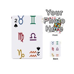 Twelve Signs Zodiac Color Star Playing Cards 54 (Mini)