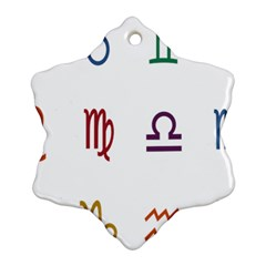 Twelve Signs Zodiac Color Star Snowflake Ornament (Two Sides)