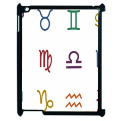 Twelve Signs Zodiac Color Star Apple iPad 2 Case (Black)