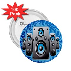 Sound System Music Disco Party 2.25  Buttons (100 pack)
