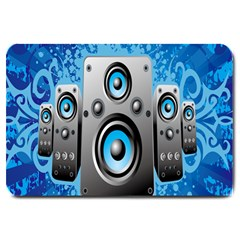 Sound System Music Disco Party Large Doormat