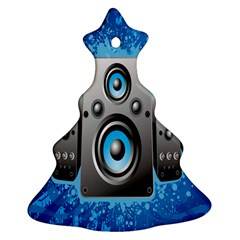 Sound System Music Disco Party Christmas Tree Ornament (Two Sides)