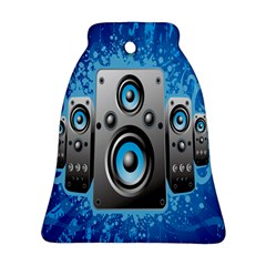 Sound System Music Disco Party Bell Ornament (Two Sides)