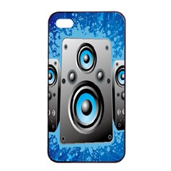 Sound System Music Disco Party Apple iPhone 4/4s Seamless Case (Black)