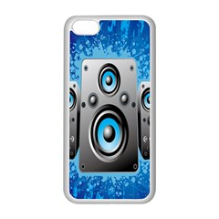 Sound System Music Disco Party Apple iPhone 5C Seamless Case (White)