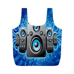Sound System Music Disco Party Full Print Recycle Bags (M)