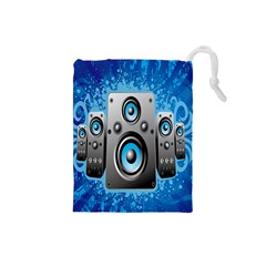 Sound System Music Disco Party Drawstring Pouches (Small)