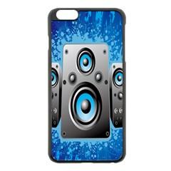 Sound System Music Disco Party Apple iPhone 6 Plus/6S Plus Black Enamel Case
