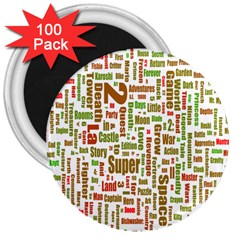 Screen Source Serif Text 3  Magnets (100 pack)